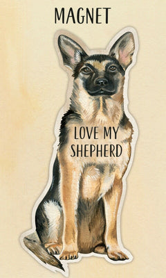 Love my German Shepherd Dog Shaped Magnet by Primitives By Kathy