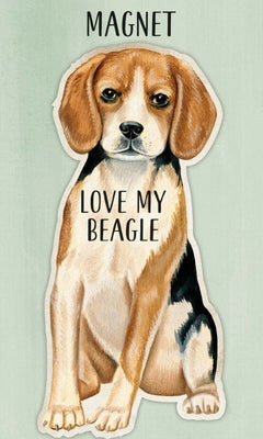 Love my Love my Beagle Dog Shaped Magnet by Primitives By Kathy