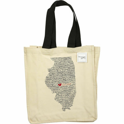 Primitives by Kathy State of Illinois Cotton Canvas Tote Bag - Piglet's Closet