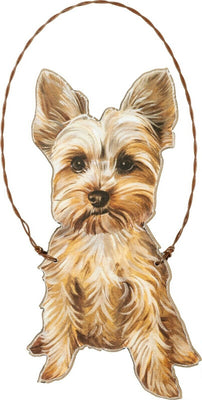 Primitives by Kathy Yorkie Yorkshire Terrier Dog Ornament