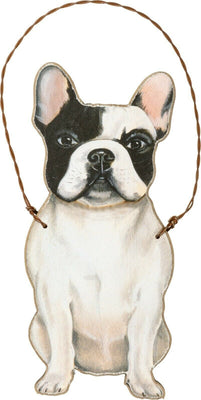 Primitives by Kathy Frenchie French Bulldog Dog Wood Ornament