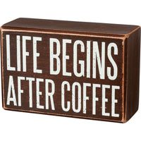 PBK Life Begins After Coffee Wood Sign & Socks Gift Set - Piglet's Closet