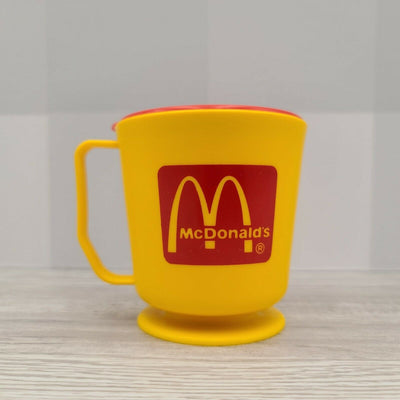 Vintage McDonald's Bertwood Marketing Canada Yellow Travel Mug Cup - Piglet's Closet
