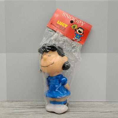 Vintage ConAgra Snoopy Peanuts Gang Lucy Rubber Squeak Toy Figurine 6