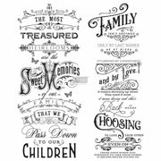 "Prima Re-design Family Heirloom Script 24"" x 29"" Decor Furniture Transfer"