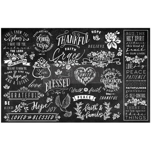 "Re-design Prima Thankful and Blessed II Decoupage Tissue Paper 19"" x 30"" - Piglet's Closet"