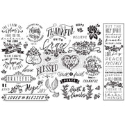 "Re-design Prima Thankful and Blessed Decoupage Tissue Paper 19"" x 30"""
