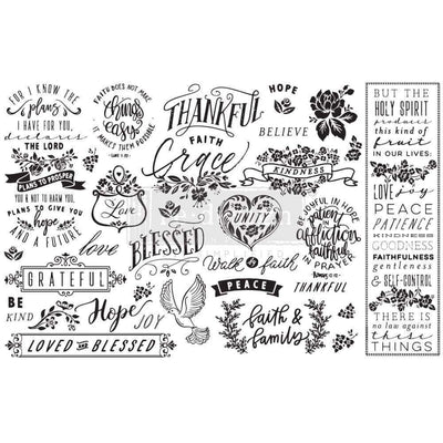 Re-design Prima Thankful and Blessed Decoupage Tissue Paper 19