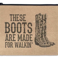 "Colonial Tin Works ""These Boots Are Made for Walking"" Canvas Travel Makeup Bag"