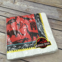 Vintage Retired Gibson Jurassic Park Party Supplies 20 Luncheon Napkins 3 Ply - Piglet's Closet
