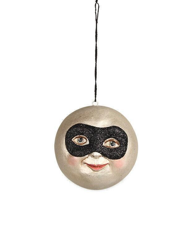 Bethany Lowe Designs Masked Moon Halloween Ornament - Piglet's Closet