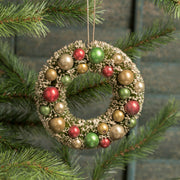 Ragon House Retro Bottlebrush Christmas Wreath with Balls Ornament - Piglet's Closet
