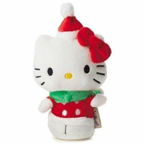 2016 Hallmark Itty Bittys Hello Kitty Christmas Toys for Tots Plush - Piglet's Closet