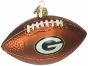 OWC Old World Christmas Green Bay Packers Football Glass Blown Ornament - Piglet's Closet
