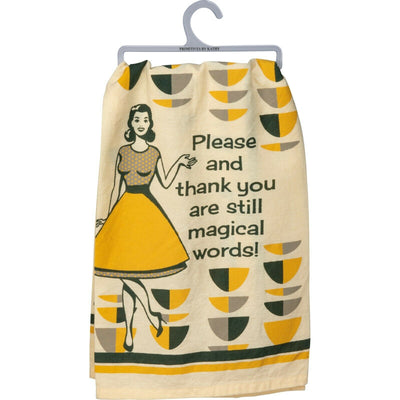 PBK Retro Please and Thank You Are Magical Words Dish Towel - Piglet's Closet