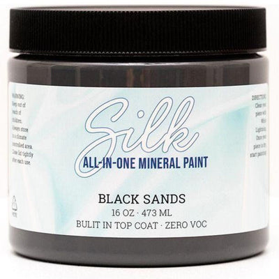 Silk All-in-One Mineral Paint by Dixie Belle - Black Sands - Piglet's Closet
