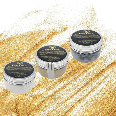Posh Chalk Metallic Textured Paste- 3 Colors 110ml - Piglet's Closet