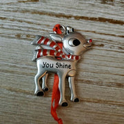 Hallmark Rudolph The Red Nosed Reindeer You Shine Metal Ornament - Piglet's Closet