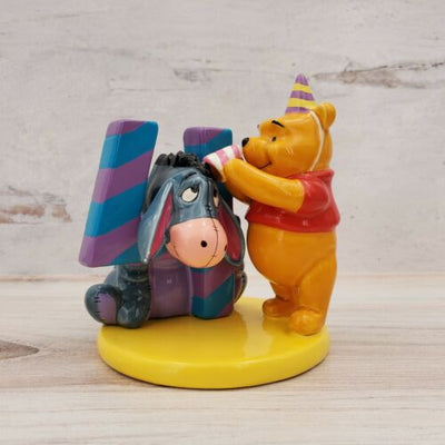Winnie the Pooh & Eeyore Ceramic Birthday Cake Topper Disney Figurine Age 4 - Piglet's Closet