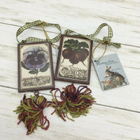 Bethany Lowe Designs Vintage Seed Packet Ornament Spring Garden - Piglet's Closet