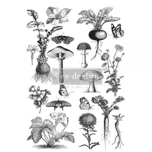 "Re-design Prima Fungi Forest Furniture Decor Transfer 24"" x 35.3"" - Piglet's Closet"