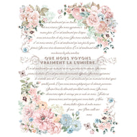 "Pure Light Floral - Redesign with Prima Furniture Decor Transfer 24"" x 35"" - Piglet's Closet"