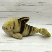 Vintage Steiff Flossy Yellow and Blown Gold Fish Mohair Plush - Piglet's Closet
