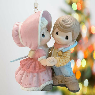 2019 Hallmark Toy Story Woody and Bo Peep Precious Moments Premium Ornament - Piglet's Closet