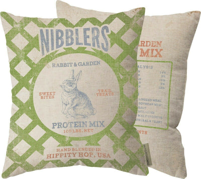 PBK Primitive Nibblers Rabbit Spring Farmhouse Feedback Pillow - Piglet's Closet