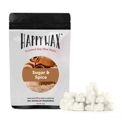 Happy Wax 2 oz Teddy Bear Seasonal Scented Wax Melts - Sugar & Spice - Piglet's Closet