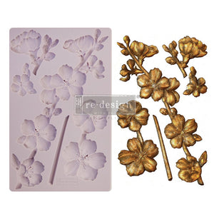 "Botanical Blossoms - Re-design with Prima 5"" x 8"" Silicone Decor Mould - Piglet's Closet"