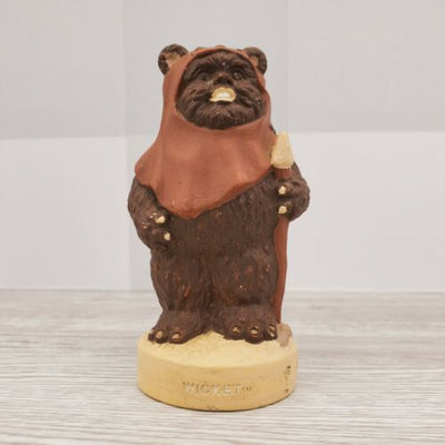 1983 Craft Masters Vinyl Star Wars Hand Painted Ewok Wicket Figurine - Piglet's Closet