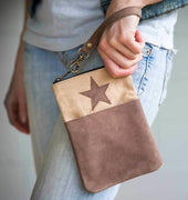CTW Colonial Tin Works Leather Star Pocket Zipper Wristlet - Piglet's Closet