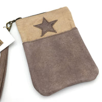 CTW Colonial Tin Works Leather Star Pocket Zipper Wristlet