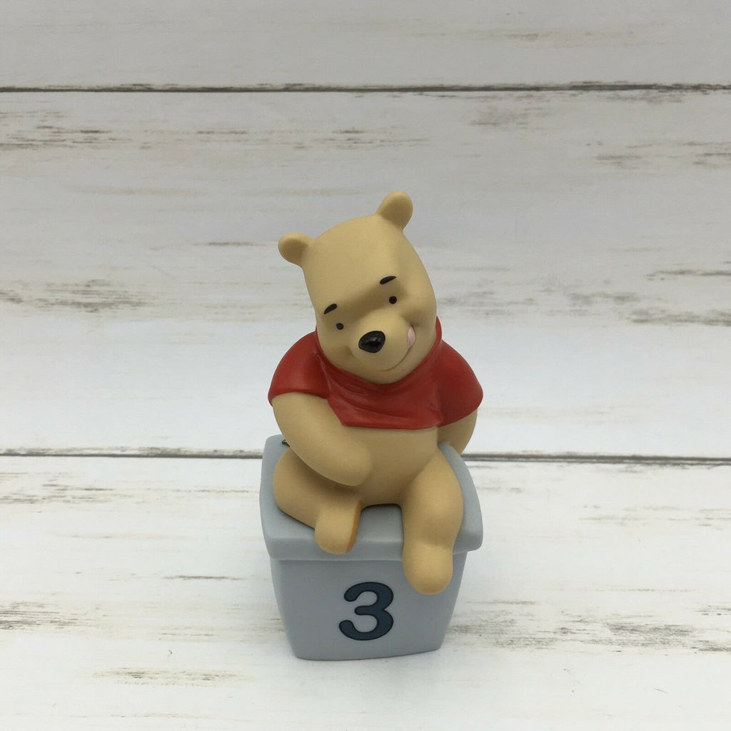 Disney Pooh & Friends 3 Is For Days Filled With Laughter Figurine Winnie The - Piglet's Closet