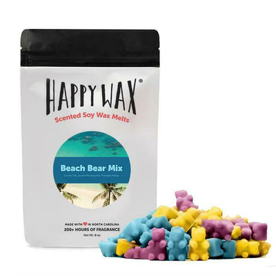 Happy Wax 8 oz Half Pound Teddy Bear Scented Wax Melts - Beach Bear - Piglet's Closet