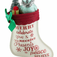 Hallmark Keepsake Christmas Ornament 2016 The Joy of Giving Stocking Bird - Piglet's Closet