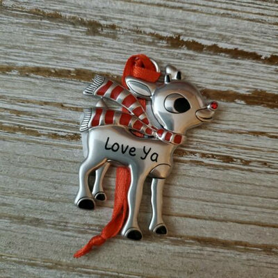 Hallmark Rudolph The Red Nosed Reindeer Love Ya Metal Ornament - Piglet's Closet
