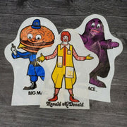 1976 McDonald's Big Mac Grimace Vinyl Bag Hand Puppet Advertising Lot of 3 - Piglet's Closet