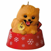 Hallmark 2016 Puppy Love Pomeranian Series Ornament