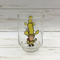 Vintage 1977 Kellogg's Sugar Pops Big Yella Drinking Advertising Juice Glass - Piglet's Closet