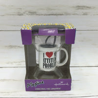 Hallmark Maxine I Love My Attitude Problem Coffee Mug Gag Gift Ornament - Piglet's Closet