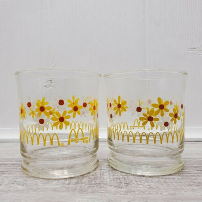 Vintage McDonalds Libbey Daisy Drinking Juice Glass 3.5
