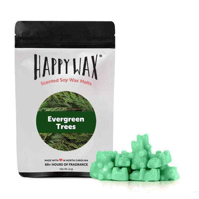 Happy Wax 2 oz Teddy Bear Seasonal Scented Wax Melts - Evergreen Tree - Piglet's Closet