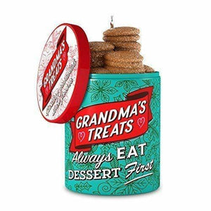 2018 Hallmark Keepsake Grandma's Cookie Jar Ornament - Piglet's Closet