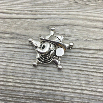 Walt Disney Napier Mickey Mouse Sheriff Badge Star Brooch Pin - Piglet's Closet