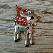 Hallmark Rudolph The Red Nosed Reindeer BROTHER Metal Ornament - Piglet's Closet