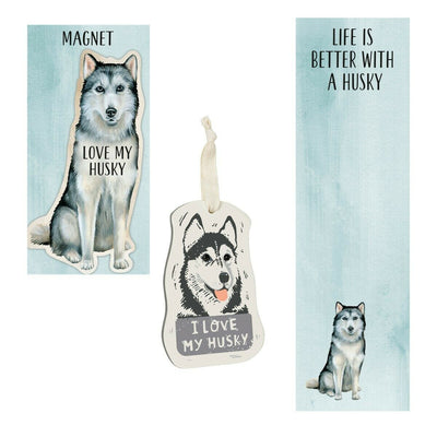 Primitives by Kathy Dog Magnet, Notebook, Ornament Set - Husky - Piglet's Closet