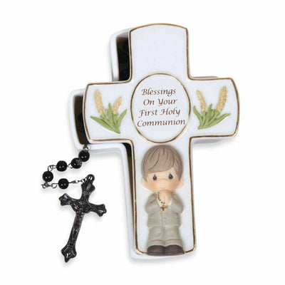 2012 Precious Moments Communion Trinket Box with Rosary Boy # 123407 - Piglet's Closet