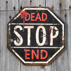 Ragon House Dead End Stop Sign Metal Halloween Decor - Piglet's Closet